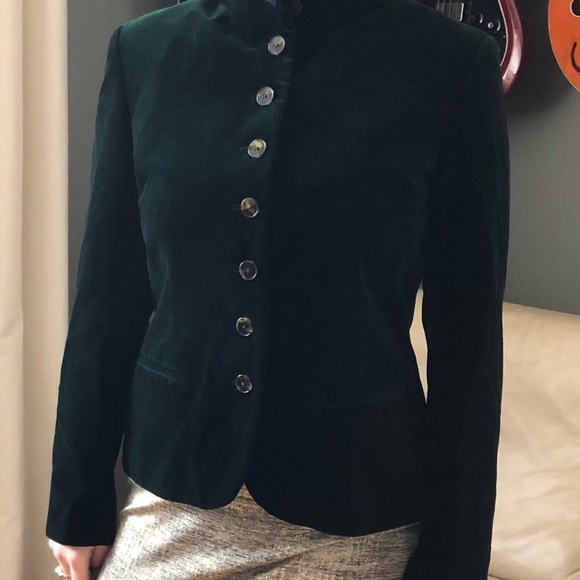 Ralph Lauren Green Velour Blazer